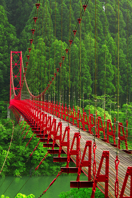 Red Bridge, Aridagawacho, Japan