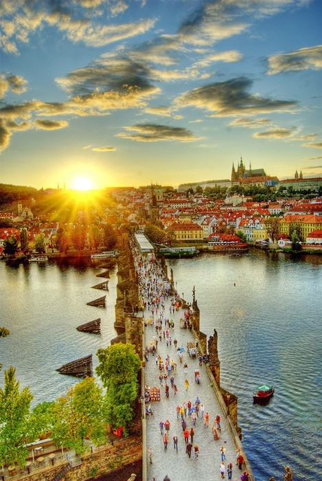 Walking Bridge, Prague, Czech Republic