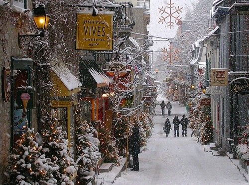 Snowy Afternoon, Old Town Quebec City, Canada