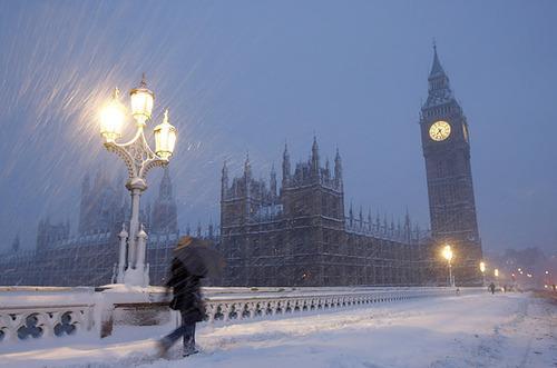 Snowstorm, London