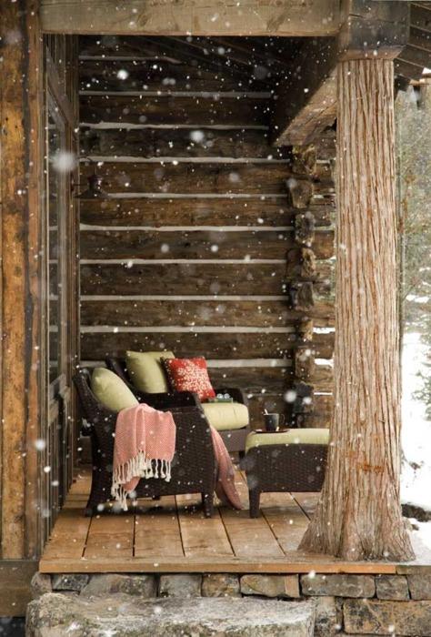 Snowy Porch, Montana