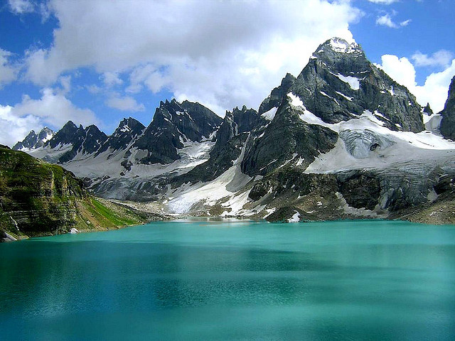 Chitta Katha Lake is a lake in the Neelum Valley, Kashmir region, Pakistan. It is located at an altitude of 4,100 meters in Karakoram Mountains.