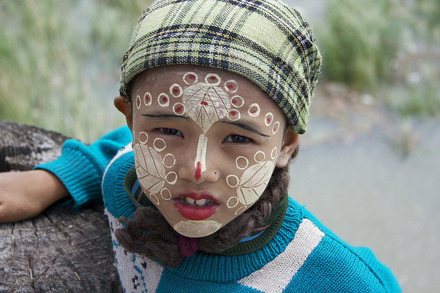 Young faces of Indochina - Burma girl.