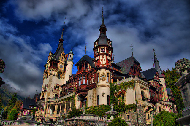 by SICOdent on Flickr.The Peles Castle - is a Neo-Renaissance castle in the Carpathian Mountains, near Sinaia, in Prahova County, Romania.
