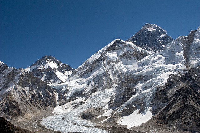 by PhilipHassell on Flickr.Everest summit seen from kala Pattar, Nepal.