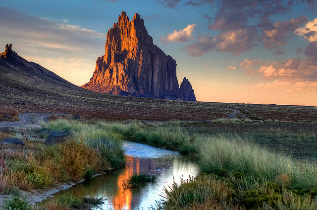 by Rozanne Hakala on Flickr.Shiprock is a rock formation in New Mexico, USA.