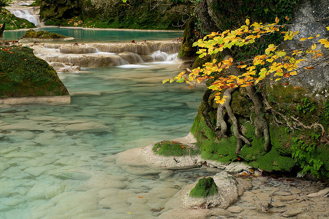 by inaxiotejerina on Flickr.Urederra river in Urbasa National Park - Navarre, Spain.