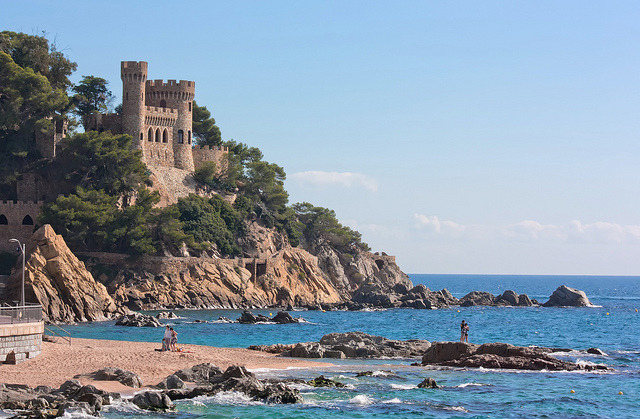 by Anton Tkachenko on Flickr.Spanish coastline at Lloret de Mar - Costa Brava, Spain.