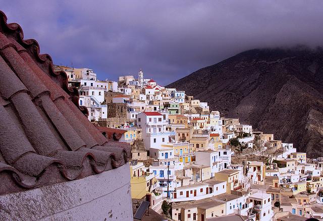 by Philanderob on Flickr.Greetings from Olympos - Karpathos Island, Greece.
