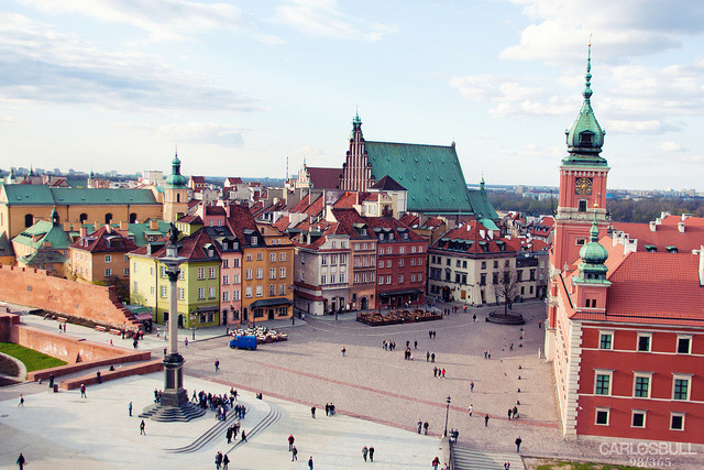 by CarlosBull on Flickr.Old city of Warsaw, the capital of Poland.