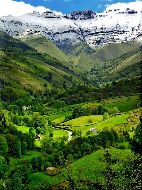 Green Valley, The Pyrenees, Cantabria, Spain