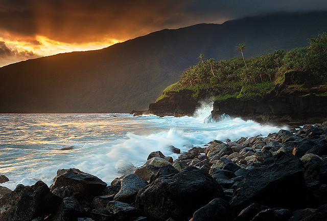 by AndersonImages on Flickr.The Wild Coast of Ta'u Island in American Samoa.