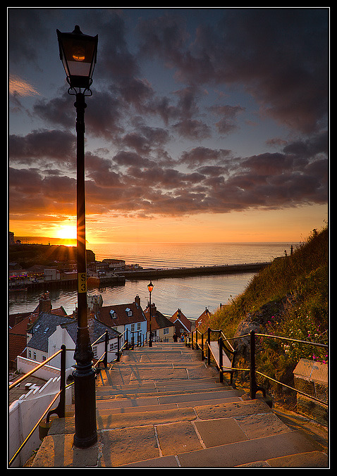 Steps to the Sea, Whitby, England