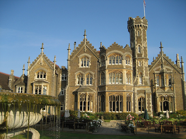Oakley Court, a Victorian Gothic country house in Berkshire, England