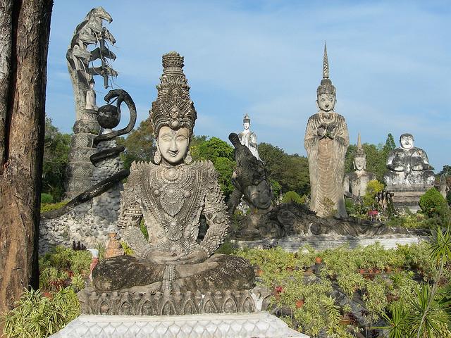 Buddha Park in Nong Khai, Isaan province, Thailand