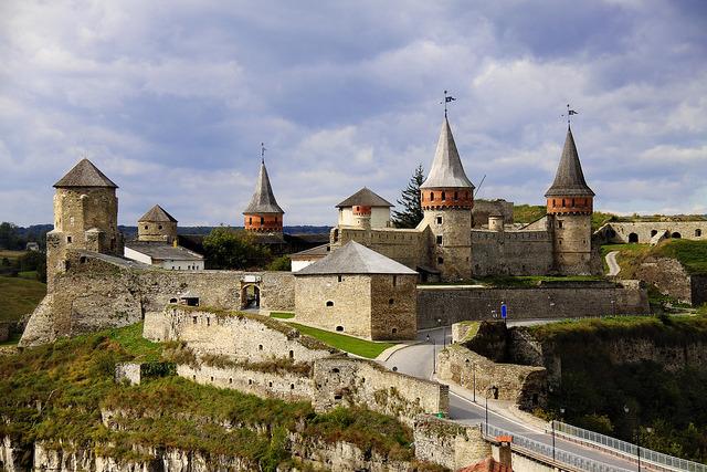 Kamianets Podilskyi Fortress in Western Ukraine