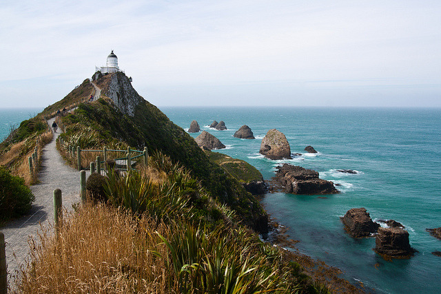 Nugget point lighthouse, Catlins, southern New Zealand