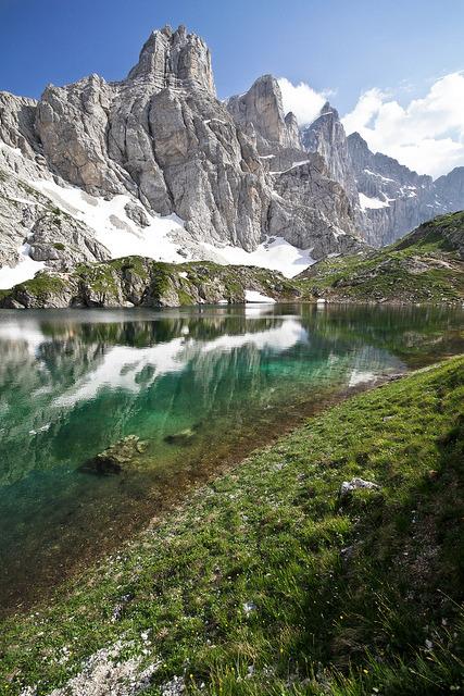 Lago di Coldai and Monte Civetta, Dolomites, Italy