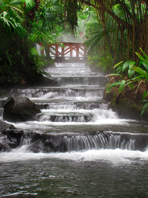Hot springs located at the base of Arenal Volcano, Costa Rica