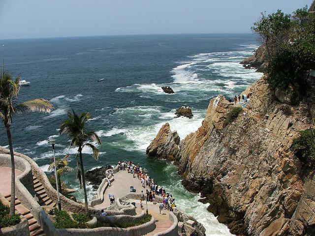 La Quebrada cliff diving site in Acapulco, Mexico