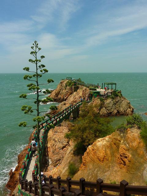 Iron fort view on Nangan island, Matsu, Taiwan