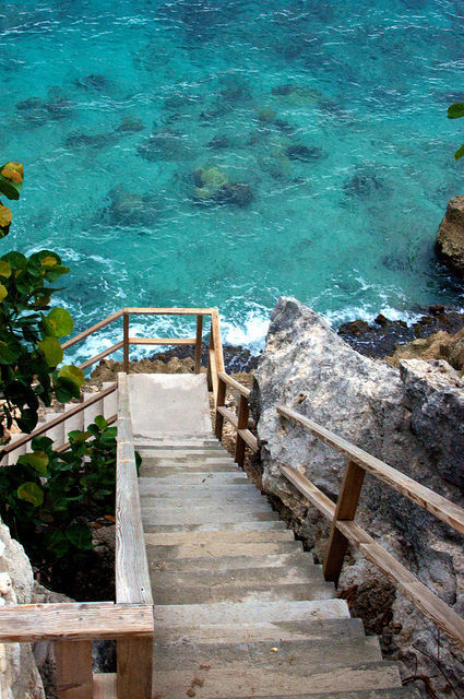 Sea Stairs, Island of Curaco