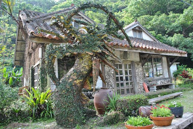 Pottery House in Onna, Okinawa Islands, Japan