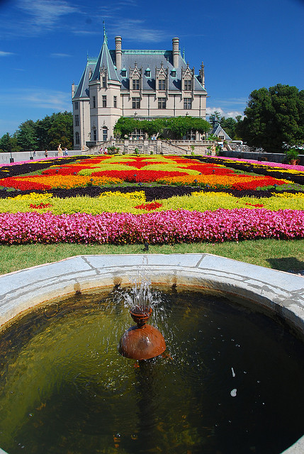 Floral carpet at the Biltmore Estate in Asheville, North Carolina, USA