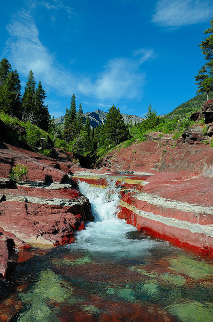 Red Rock Canyon in Waterton Lakes National Park, Canada