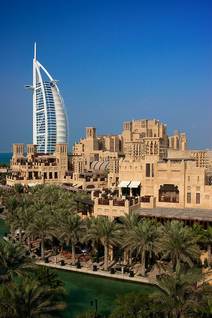 Traditional and modern architecture in Dubai, United Arab Emirates