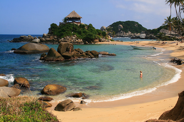 Playa El Cabo de San Juan in Tayrona National Park, Colombia