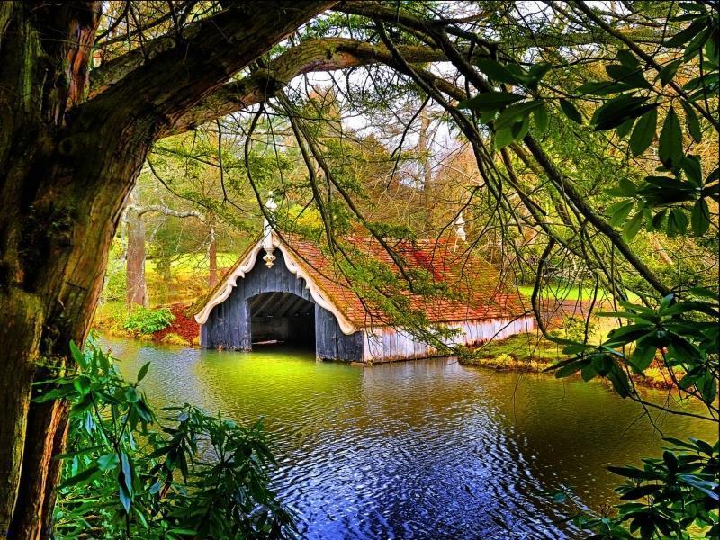 Boathouse, Scotney Castle, Kent, England