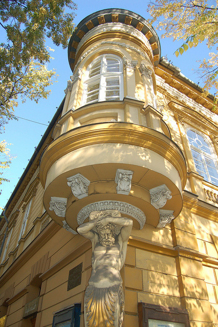 Beautiful architecture in the city of Subotica, Serbia