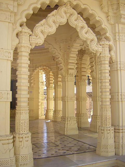 Jain architecture at Palitana Temples in Gujarat, India