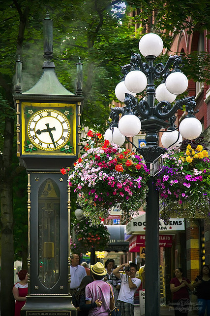 Gastown Steam Clock in Vancouver, Canada