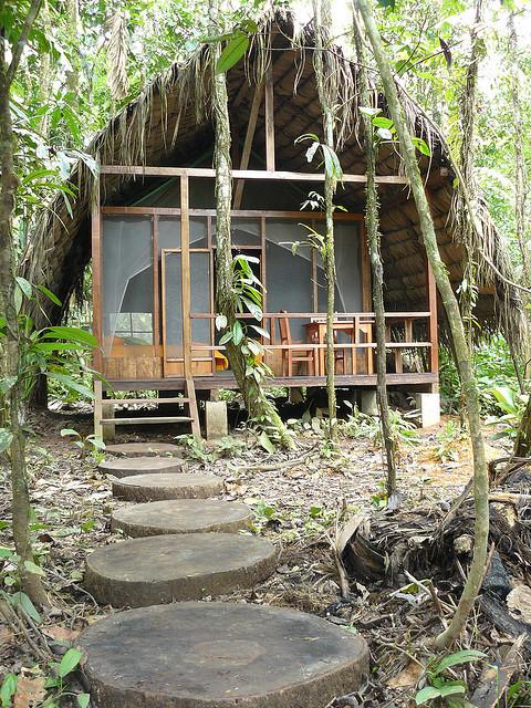 Huaorani Ecolodge in the Amazonian Rainforest of Ecuador