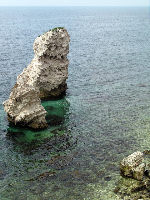Sea stack at Cape Tarkhankut in Crimea, Ukraine
