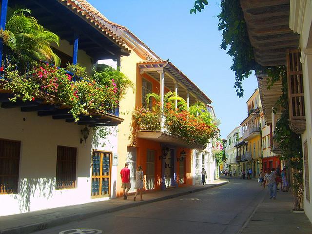 Colonial streets of Cartagena de Indias, Colombia