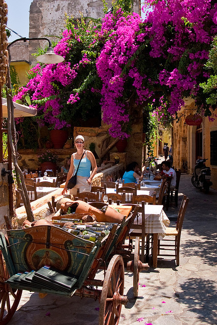 Semiramis Taverna in Chania, Crete Island, Greece