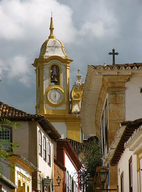Colonial architecture in Tiradentes, Minas Gerais, Brazil