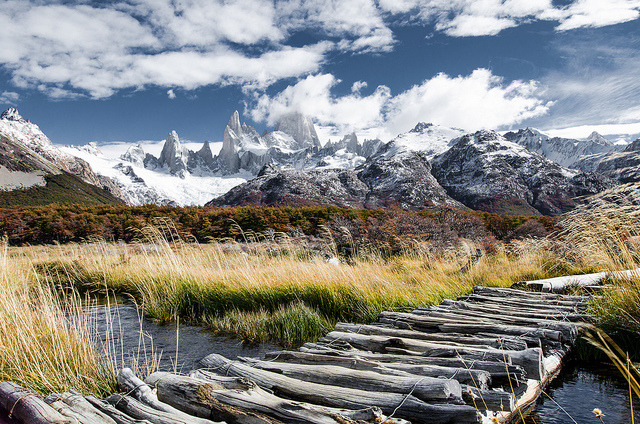 On the approach to Fitz Roy in Southern Patagonia, Argentina