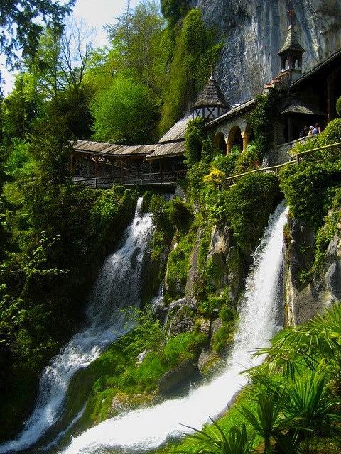 Entrance to St Beatus Caves, Interlaken, Switzerland