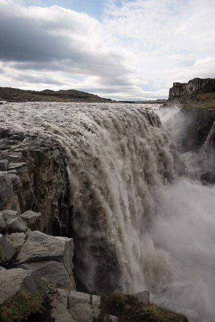 Reputed to be the most powerful waterfall in Europe, Dettifoss, Iceland
