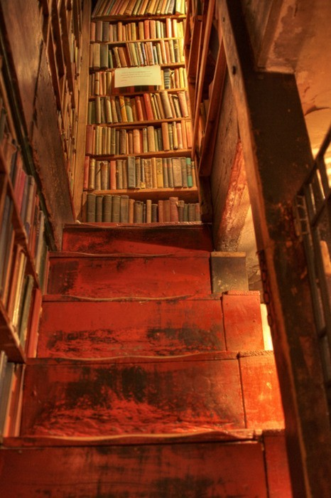 Stairway, Shakespeare and Company Bookstore, Paris