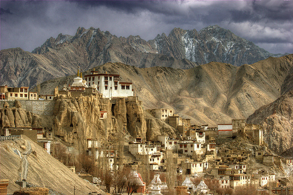 Lamayuru Monastery, north of the Himalaya range in Ladakh, India