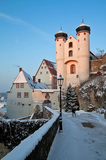 Winter Sunset, Parsberg Castle, Germany