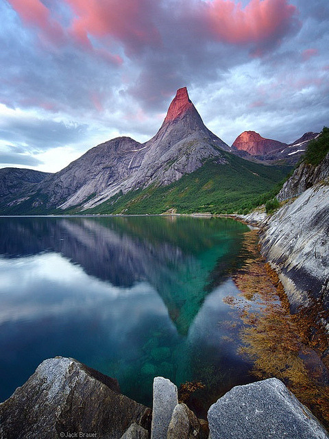 Stetind Peak in Tysfjord, the national mountain of Norway