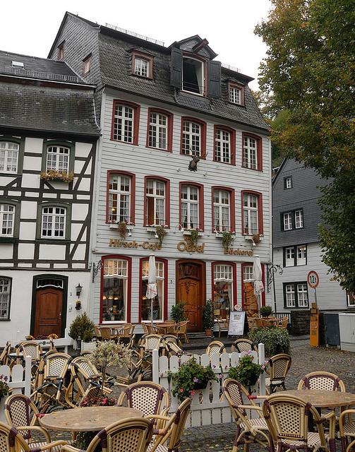 Hirsch Cafe in Monschau, Germany