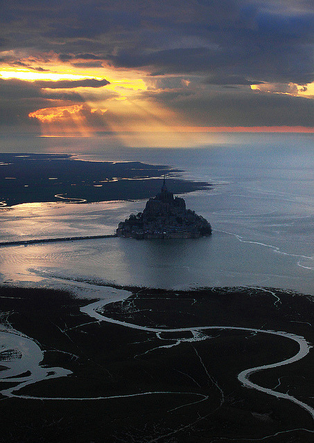 Spectacular view, Mont Saint-Michel, France