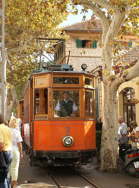 Old tram in Port Soller, Mallorca, Spain